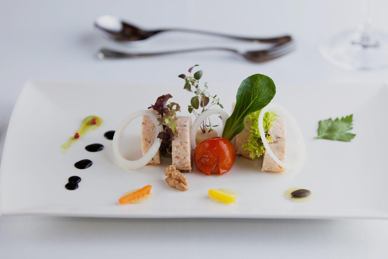 Delikate Vorspeise des Restaurants im Mühlviertel - Hotel Alpenblick