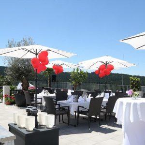 Hochzeitslocation im Mühlviertel auf der Dachterrasse - Hotel Alpenblick